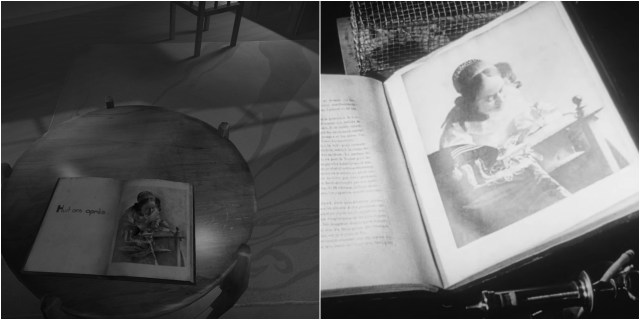 Scene from 'The Tender Cut'; still from 'Un Chien Andalou' (courtesy No, Thanks Games, and a screenshot by the author for Hyperallergic)