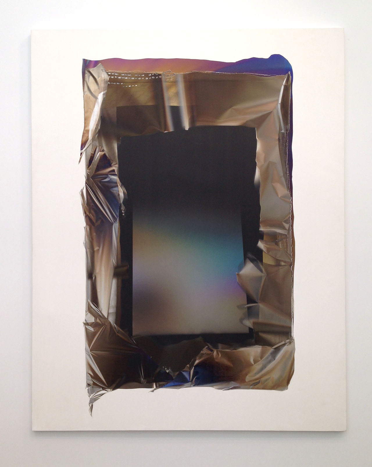 "Larry Bell, ""Big Mirage Painting #53"" (1991), mixed media on canvas 89 9/16 x 70 3/8 in at White Cube"