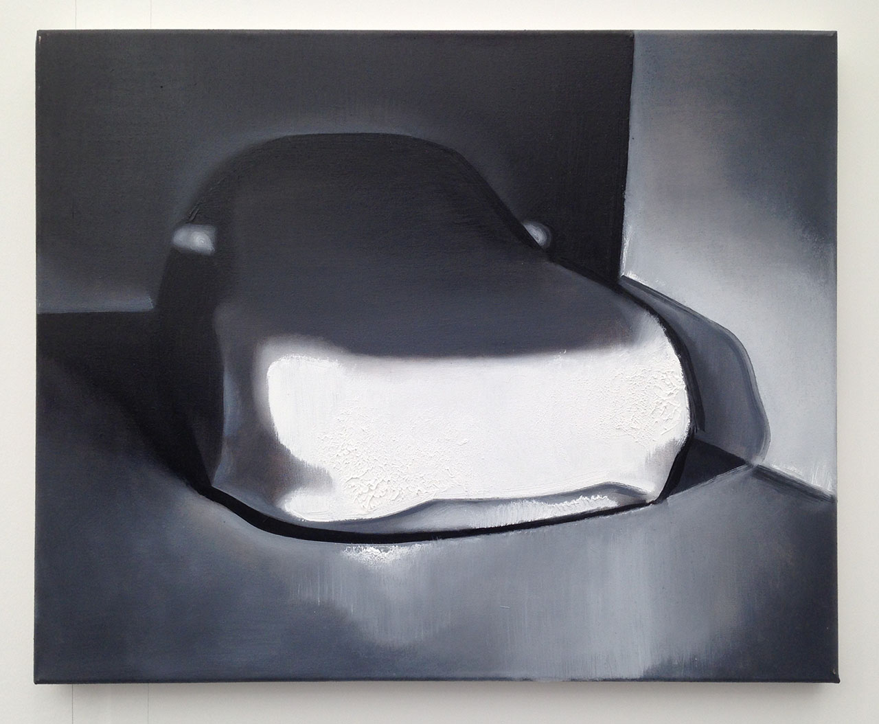 "Wilhelm Sasnal, ""Untitled (car)"" (2015), oil on canvas, 40x40 cm at Foksal Gallery Foundation"