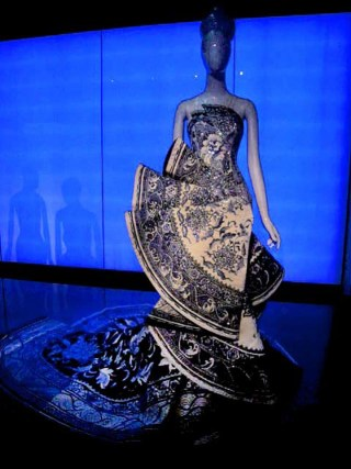 Guo Pei, silk and satin evening gown, 2010, photo by Ellen Pearlman