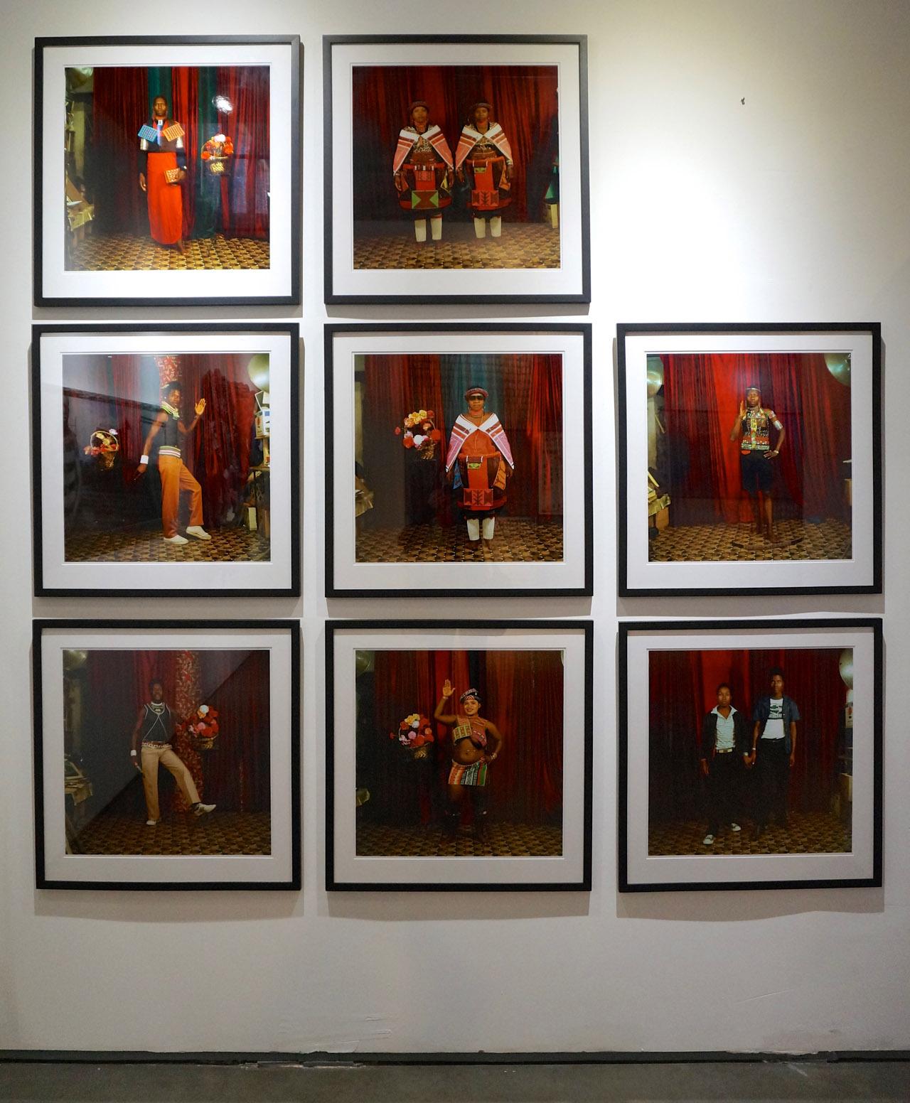 Wall of photos from Bobson Sukhdeo Mohanlall's studio at Axis Gallery's booth (click to enlarge)