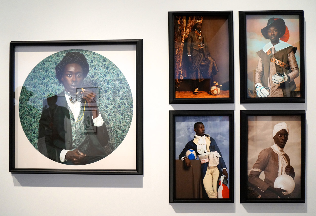 Omar Victor Diop's series at Magnin-A's booth (click to enlarge)