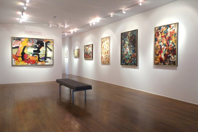 Installation view, 'Audrey Flack: The Abstract Expressionist Years' (all images courtesy Hollis Taggart Galleries)