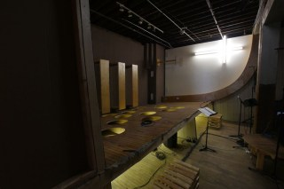 Installation view, Chris Larson's 'Wise Blood' installation at the Soap Factory (click to enlarge)