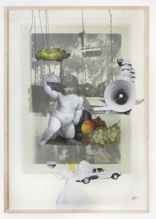 "Hesam Rahmanian, ""Rearview Portrait"" (2012), acrylic on canvas, 23 1/2 x 20 inches"