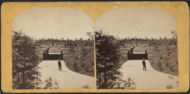 Arch in Central Park (1860-1900) (photo by W. M. Chase, via New York Public Library)