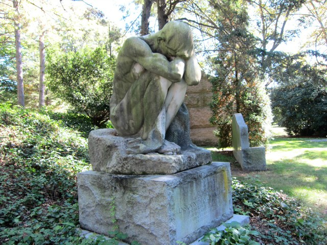 """""""The Outcast"""" by Attilio Piccirilli in Woodlawn Cemetery"""