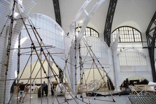 """Michael Beutler, installation shot of """"Moby-Dick,"""" (2015)"""