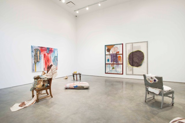 Installation view, 'Jessica Jackson Hutchins: I Do Choose' at Marianne Boesky Gallery (click to enlarge)