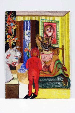 """Natalie Frank, """"Little Red Cap I"""" (2011-14) (courtesy of the Drawing Center"""