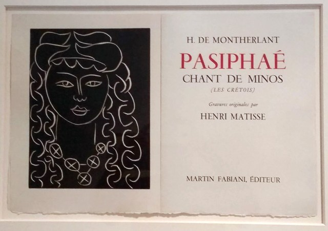 Henri Matisse's frontispiece for Henry de Montherlant's Pasiphae, linocuts (1944)
