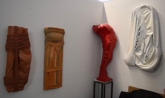 Sculptures by Amy Giovanna Rinaldi in her studio (#321) at 1717 Troutman