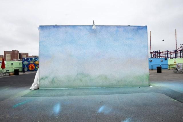 Katsu's Dronescape at Coney Art Walls (photo courtesy the artist)