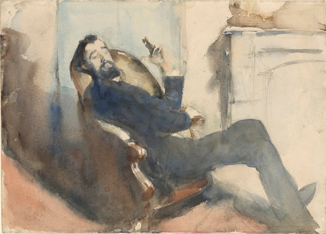 "John Singer Sargent, ""Portrait of Paul-César Helleu"" (ca. 1882-85). Watercolor over graphite on paper. Gift of Rose Pitman Hughes and J. Lawrence Hughes in memory of Junius and Louise Morgan, 2005, The Morgan Library & Museum"