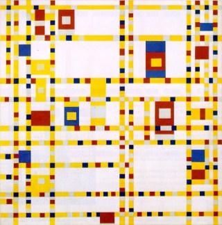 """Piet Mondrian, """"Broadway Boogie Woogie"""" (1942–43) (image via Wikimedia Commons)"""