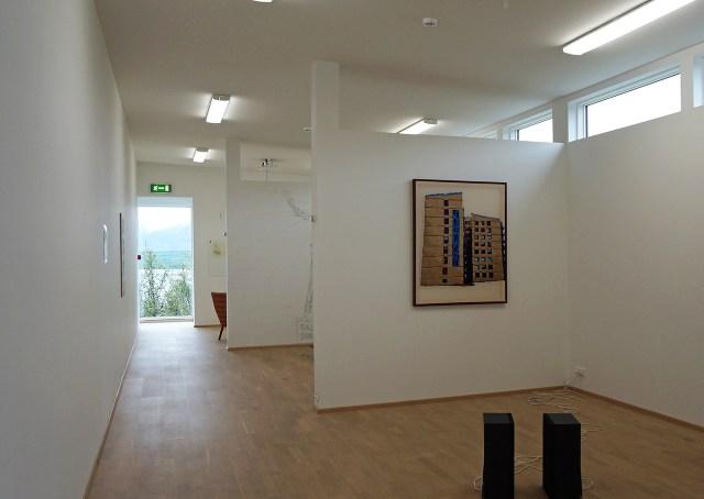A hallway of exhibition spaces