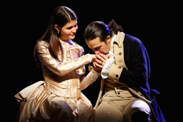 Philippa Soo and Lin-Manuel Miranda in 'Hamilton' (photo by Joan Marcus)