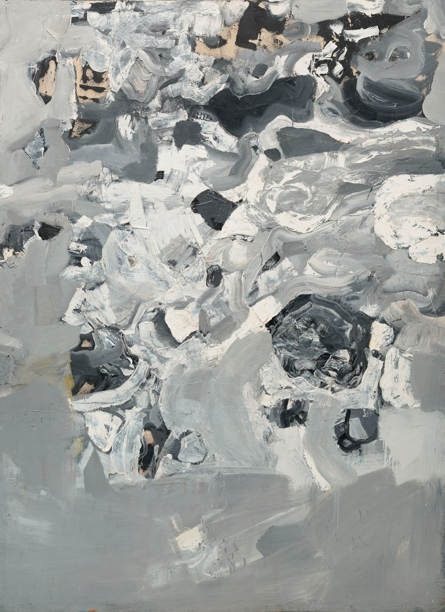 "Jay DeFeo, ""Untitled (Everest),"" from the 'Mountain' series (1955), oil paint on canvas, 96 x 74 in, Collection of the Oakland Museum of California, Gift of Jay DeFeo (image © 2015 The Jay DeFeo Trust / Artists Rights Society [ARS], New York)"