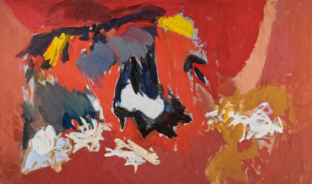 "Ethel Schwabacher, ""Antigone I"" (1958), oil paint on canvas, 51 x 85 in, Collection of Christopher C. Schwabacher and Brenda S. Webster (image courtesy Christopher C. Schwabacher and Brenda S. Webster)"