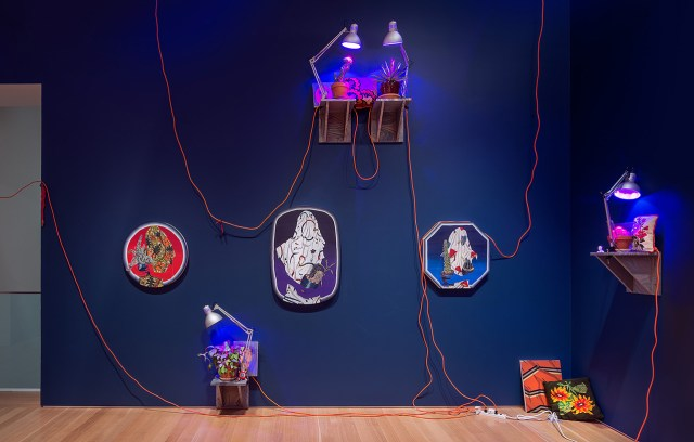 Installation view, 'Amir H. Fallah: The Caretaker' at the Nerman Museum of Contemporary Art (photo by EG Schempf)