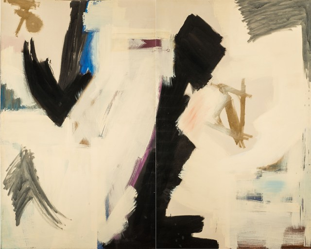 "Judith Godwin, ""Epic"" (1959), oil paint on canvas (diptych), 82 x 100 in, On loan from the National Museum of Women in the Arts, Washington, DC, Gift of Caroline Rose Hunt.(photo by Lee Stalsworth, © Judith Godwin)"
