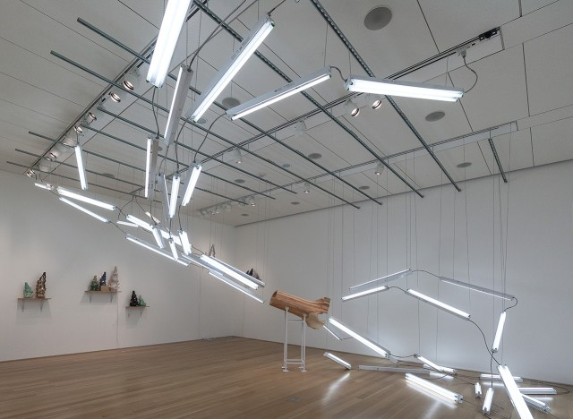 Installation view, 'Mark Cowardin: The Space Between' at the Nerman Museum of Contemporary Art
