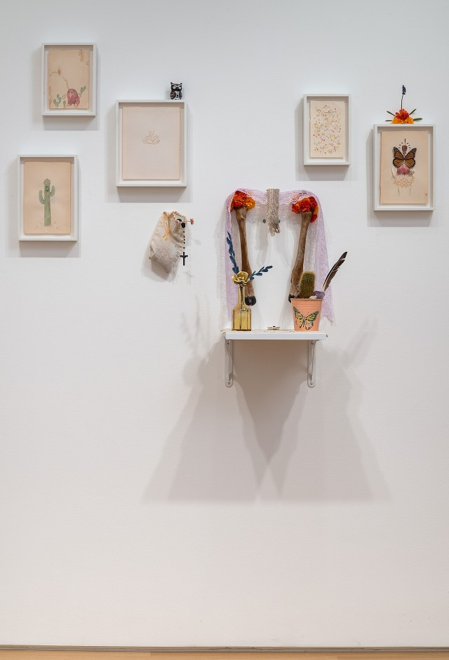Installation view, 'Rodolfo Marron III: A Poke Ghost and the Garden of Tearz' at the Nerman Museum of Contemporary Art (click to enlarge)