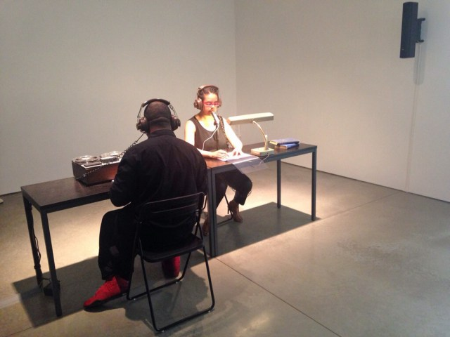 """Mendi and Keith Obadike performing """"Numbers Station [Furtive Movements]"""" (2015)"""