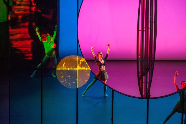 """""""Tree of Codes,"""" directed and choreographed by Wayne McGregor, visual concept by Olafur Eliasson, and music by Jamie xx. Performed by dancers from Paris Opera Ballet and Company Wayne McGregor in the Drill Hall, Park Avenue Armory on Opening Night, September 14, 2015 (all photos by Stephanie Berger)"""