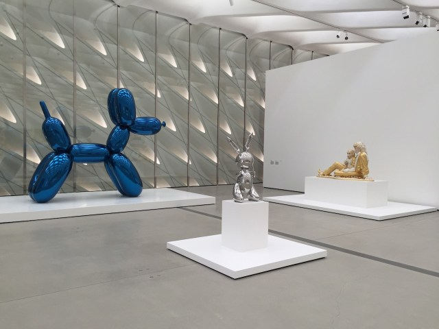 Works by Jeff Koons.