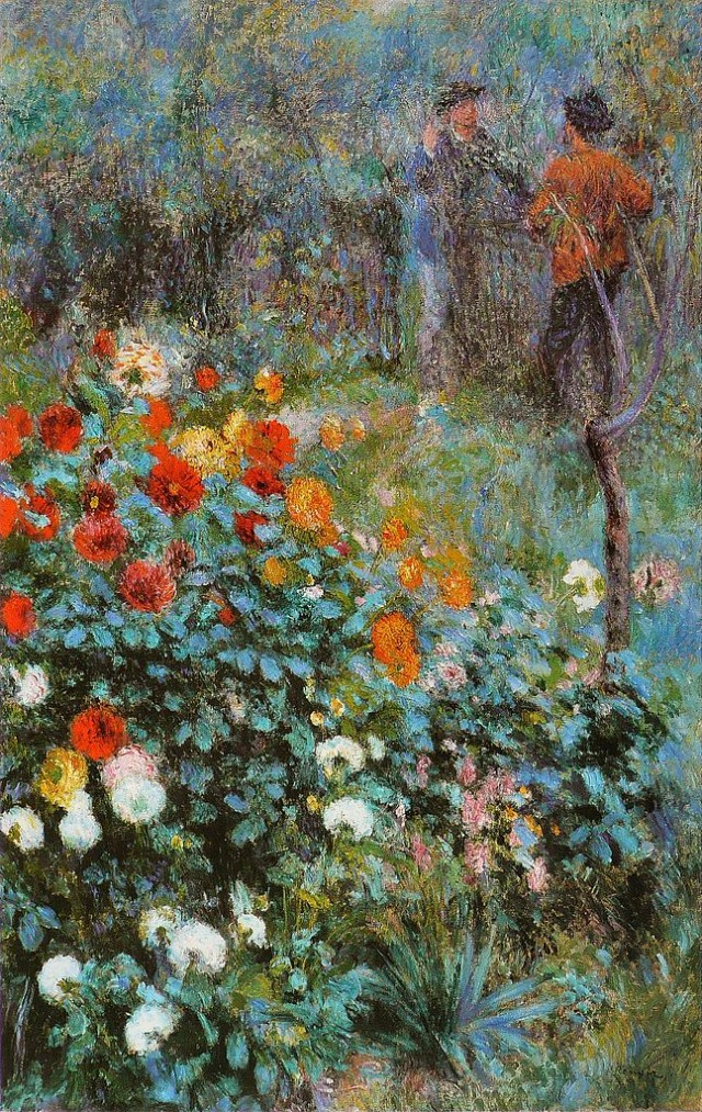 "Pierre-Auguste Renoir, ""Le Jardin de la rue Cortot à Montmartre"" (1876), oil on canvas. It's one of the paintings included in the Carnegie Museum of Art's Art Tracks initiative on art provenance (via Carnegie Museum of Art/Wikimedia)"