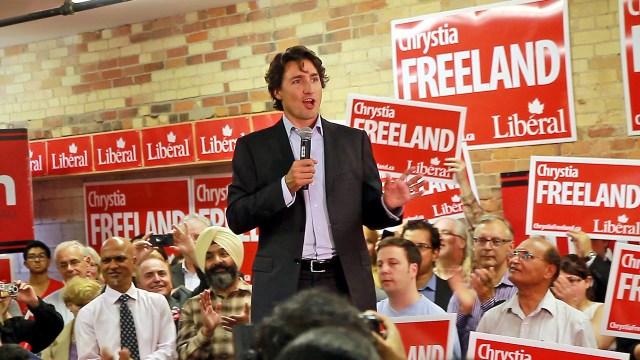 Justin Trudeau campaigning in 2013 (photo Joseph Morris's Flickrstream)