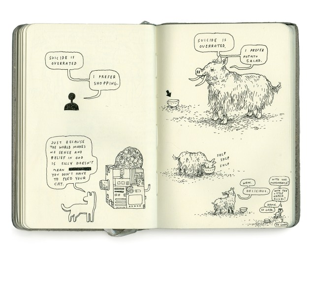 A spread from Anders Nilsen's 'Poetry is Useless' (click to enlarge)