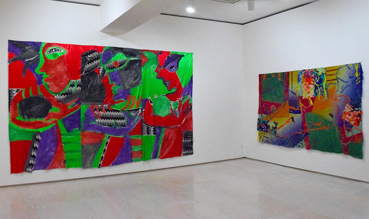 """Robert Kushner's """"Samba Class"""" (1982, left) and """"Torrid Dreams"""" (1983)"""
