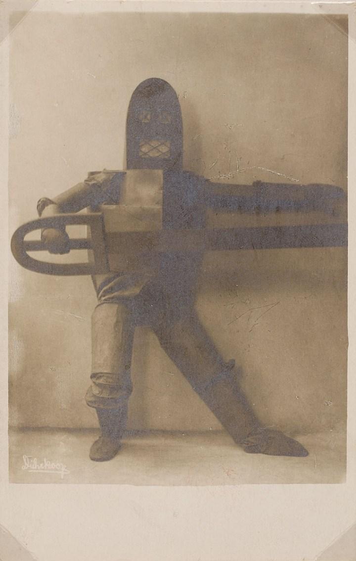 """Dance costume for """"Skirnir"""" (1924), black and white positive on silver gelatin paper"""