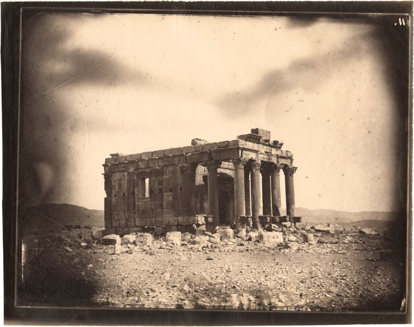Temple of Baalshamin, Palmyra, Syria, albumen print, 1864 (negative by Louis Vignes, photograph printed by Charles Nègre)