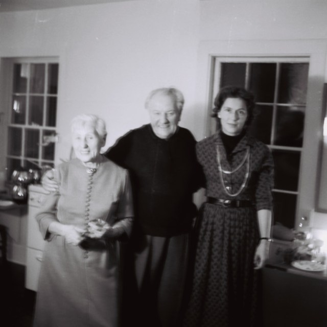 Vita Peterson with the Hofmann's at the Hofmann house in Provincetown, Thanksgiving 1958.