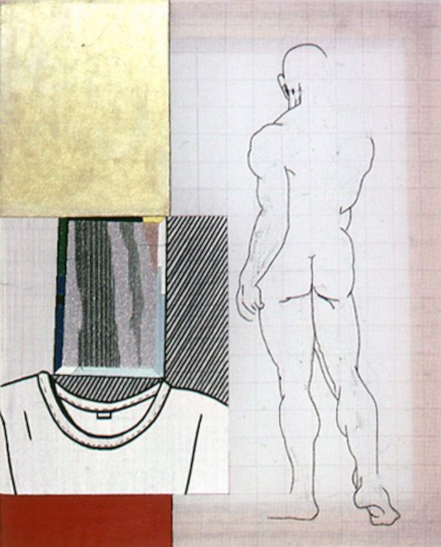 Mirror, Thread and pigment on embroidery fabric (Provided by Visual AIDS)