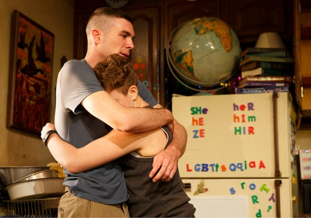 Cameron Scoggins and Tom Phelan in Taylor Mac's 'Hir' at Playwrights Horizons (all photos by Joan Marcus unless noted otherwise)