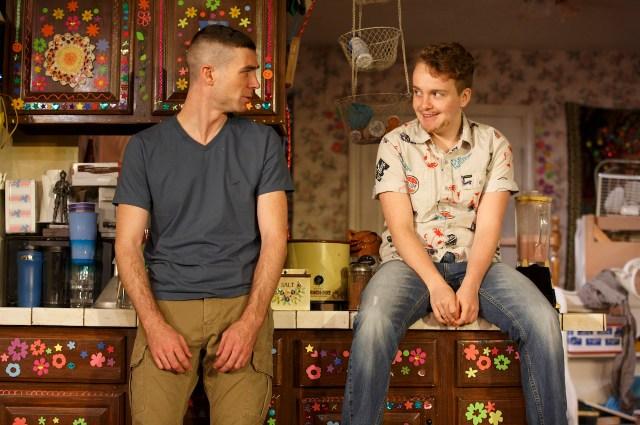 Cameron Scoggins and Tom Phelan in Taylor Mac's 'Hir' at Playwrights Horizons
