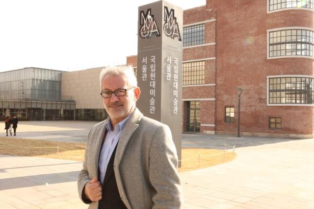 Bartomeu Marí standing outside Korea's National Museum of Modern and Contemporary Art (photo TK)