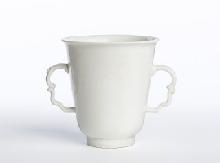 Meissen cup from de Waal's personal collection, on view in 'white'