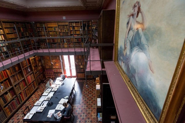 View of the Royal Academy Library (photo by Benedict Johnson)