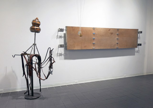Installation view of work by Thomas Glassford in 'Strange Currencies'
