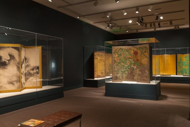 Installation view of 'Sōtatsu: Making Waves' at Arthur M. Sackler Gallery, Smithsonian (photo by Neil Greentree)