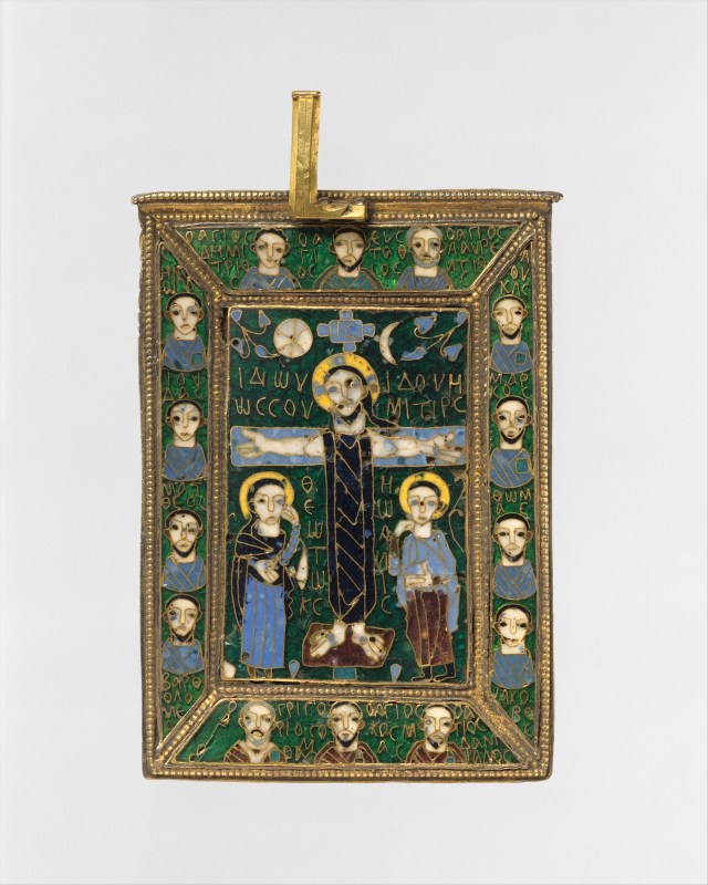 Front of lid of the Fieschi Morgan Staurotheke (early 9th century)