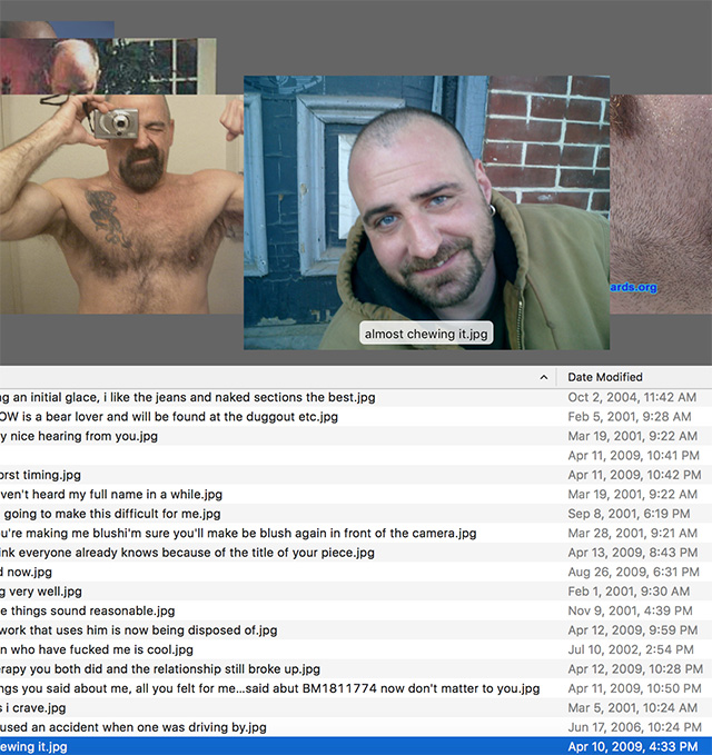"A screenshot of Christopher Clary's ""Sorry to dump on you like this.zip"" project (screenshot Hrag Vartanian/Hyperallergic)"