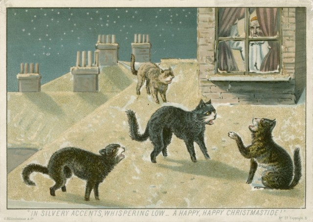 """In silvery accents, whispering low – A happy, happy Christmastide!"" (England, 1880) (courtesy Toronto Public Library)"