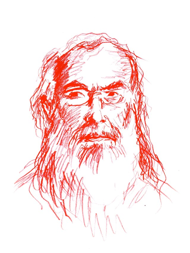 """David Brooks, the Tolstoyan Mystic"" (all images by the author for Hyperallergic)"