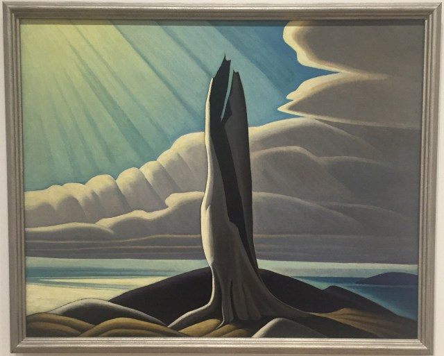 """Lawren Harris, """"North Shore, Lake Superior"""" (1926), oil on canvas, 40 1/4 x 50 1/8 in (102.2 x 127.3 cm), National Gallery of Canada, Ottawa"""
